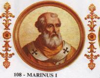 Марин е роден в Галезе (в Лациум, дн. в провинция Витербо), син е на свещеника Палумбрий от Тоскана. Папа Николай I го ръкополага за дякон. Представлява Светия престол като легат...