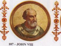 Йоан VIII е родив в Рим ок. 820 г. Баща му Гунд е архидякон, издигнат в този сан през 852 г. от Папа Лъв IV. Йоан става близък сътрудник на...